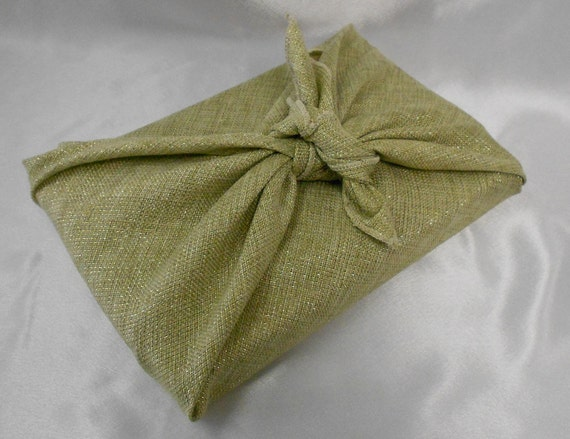 6 Golden Linen Furoshiki Traditional Japanese Wrapping Cloth-1001 Uses