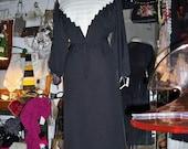 1970s Architectural Lanvin Dress M