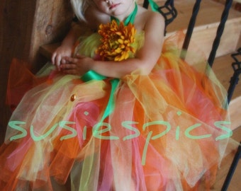 Create your own Tutu Dress..sizes ( 8-9) years old..Plus a FREE Flower clip..