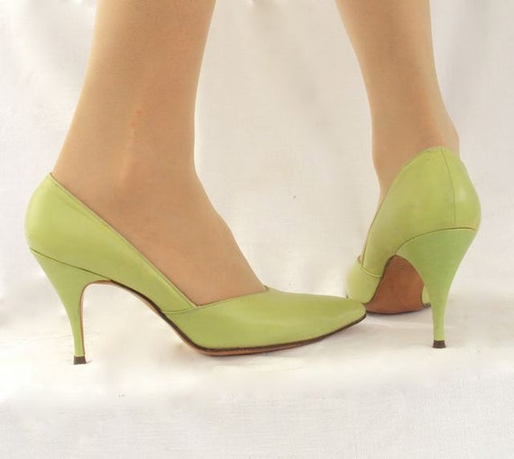 Stiletto Lime Pumps by Paul Allen sz 7 1/2 or 8