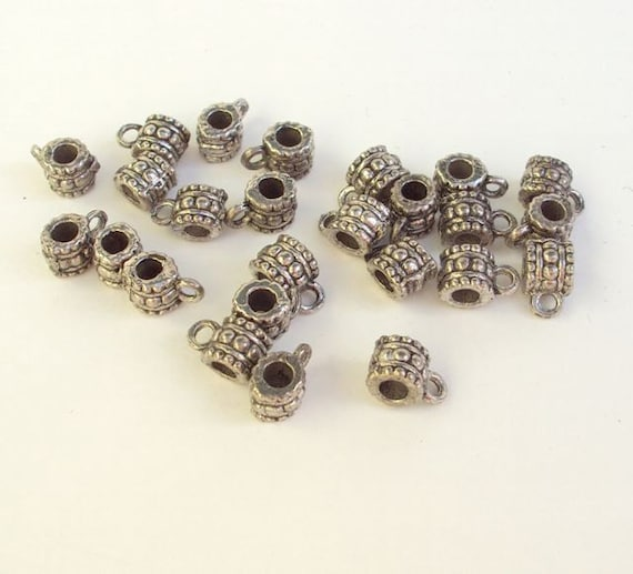 Supplies Destash Silver Bali Beads Spacers with Loop Lot