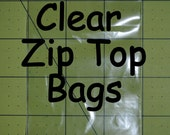 100 3 x 4 inch Clear Zip Top Resealable Bags