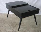 Black Retro End Table
