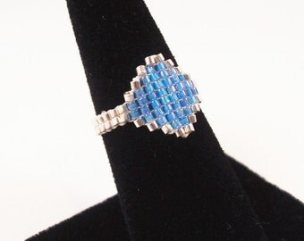 Stained Glass Ring Pattern, Beading Tutorial in PDF
