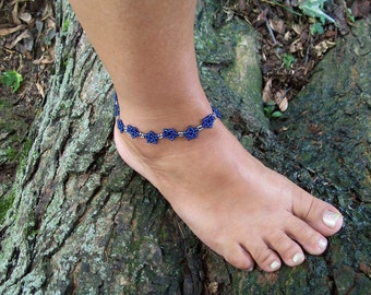 Star Bracelet or Anklet Pattern, Beading Tutorial in PDF