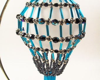 Hot Air Balloon Ornament No.1, Beading Tutorial in PDF