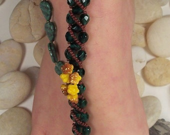 Wild Thing Slave Anklet, Beading Tutorial in PDF