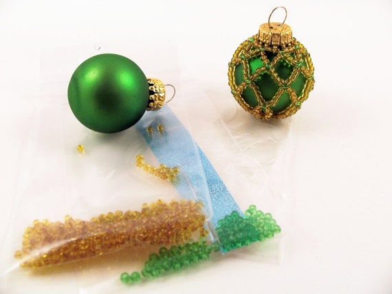 Green and Gold Ornament Kit