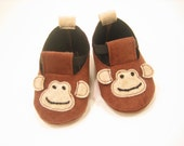 Brown monkey baby bootie, sizes: small, meduim and large