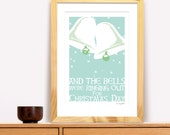 And The Bells Were Ringing Out for Christmas Day  Modern Irish Trad Poster