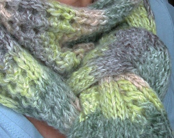Knitting PATTERN - Reversible Scarf
