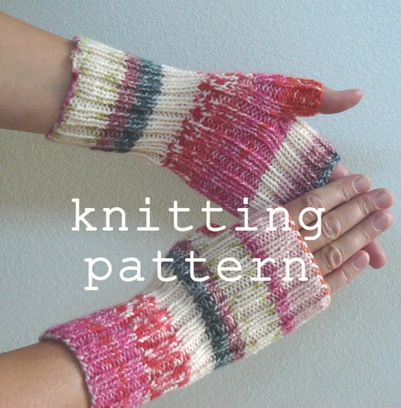 Pattern Fingerless Gloves