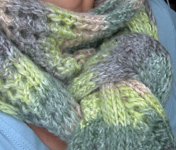 Knitting PATTERN - Reversible Scarf