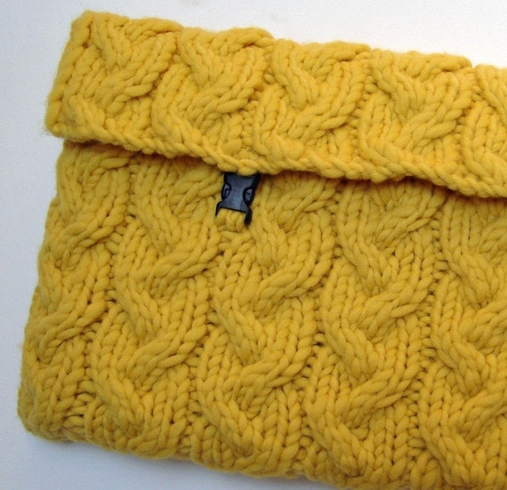 Laptop Bag Knitting Pattern : Knitting PATTERN Sunny Laptop Sleeve