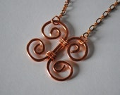 Copper Butterfly Pendant, Wire Wrapped Jewelry