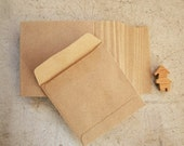 set of 50 recycle kraft paper gift bag square size 9.5cmX9.5cm great for card packing or organizer your stationary