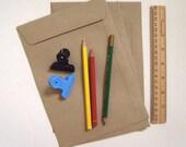 Set of 20 Brown Kraft flat open end envelopes size A5 23cm X 16cm or for halfA4
