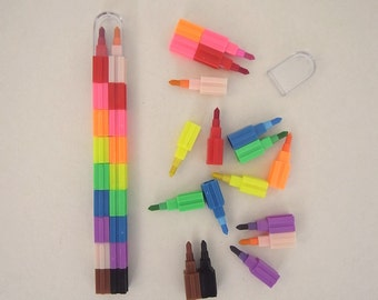 Jigsaw color pencil - create your own style 9 colors assorted
