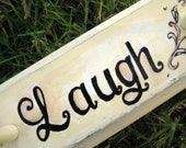 Live,love,laugh, customized and personalized peg rack