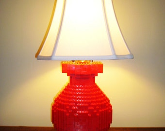 Modern Brick Table Lamp, fully glued & made to order with FREE SHIPPING