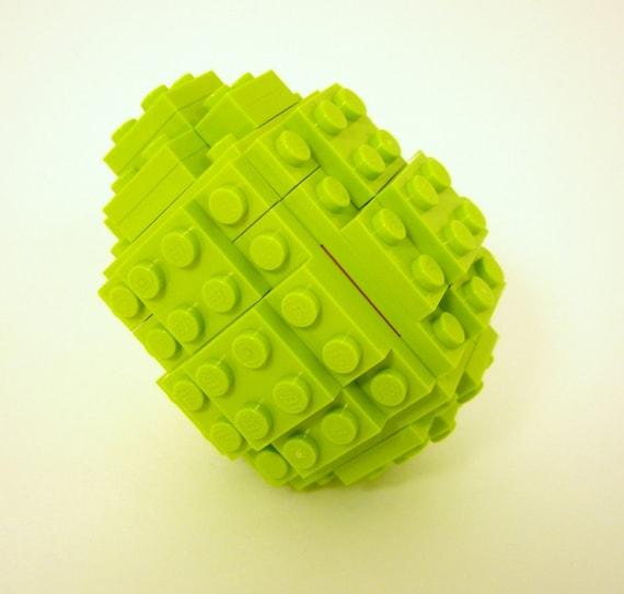 Green Toy Brick Easter Egg Building Kit
