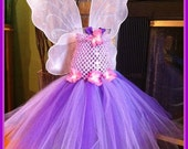 Purple Butterfly tutu dress-Birthday Dress, Photo Prop