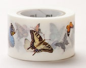 Discontinued - MT ex 2011 Autumn - Japanese Washi Masking Tapes / 30mm wide Beautiful Butterfly