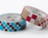 On Sale - MT 2012 Japanese Washi Masking Tapes / Blue or Red Mixed Patches for scrapbooking, packaging, party deco, card making