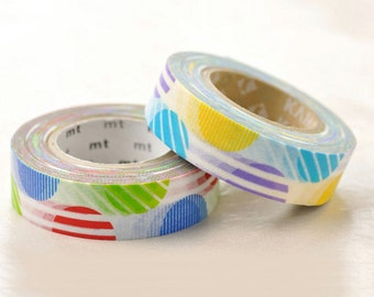 Japanese Washi Masking Tape SINGLE / Red or Purple Arch (15m Long, 50% more) for party deco, holiday packaging, invitations