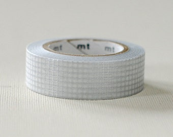 MT 2012 - Japanese Washi Masking Tape / Silver Checker Grid for scrapbooking, packaging, party deco, card making