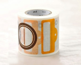 Discontinued-Japanese Washi Masking Tapes / 50mm wide Tags (15m Long, 50% more) for tag, card, invitation making, packaging, scrapbooking