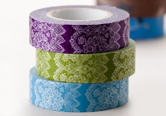 Classiky Japanese Washi Masking Tapes - Elegant and Delicate Lace for Scrapbooking, Packaging, Decoration