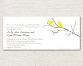 Love Birds on a Branch Wedding Invitation