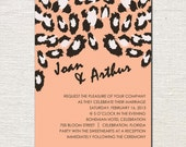 Roar Animal Print//Digital Invitation