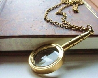 MY DEAR WATSON Real Magnifying Glass Pendant Necklace