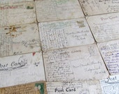 Antique Postcard Lot for Crafting, Collage, Journaling, Scrapbooking ( 6 )