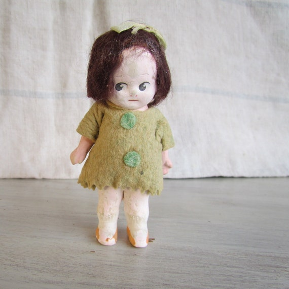 Antique Bisque Doll Articulated Cutie 5 inches German