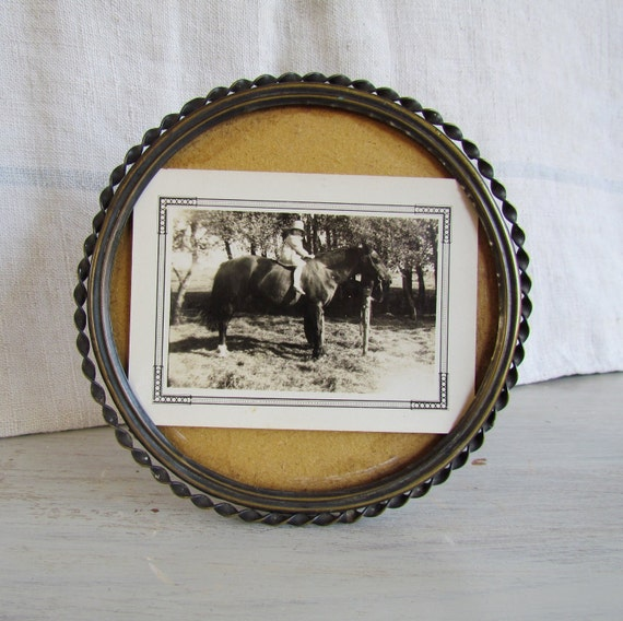 Antique Brass Picture Frame Early 1900s