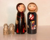 Wood Peg Doll Family- Custom Hand Painted to Look Like You and Your Family- Unique and Totally Personalized for You