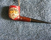 Santas Pipe Hand Carved by: G. Roush  RESERVED FOR JANICE