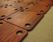 10 pcs. Wooden (padouk) weaving tablets. SCA. Reenactment