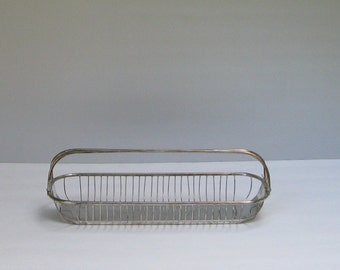 Silver Wire Bread Basket with Handle
