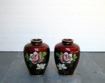 Oxblood Cloisonne Vases