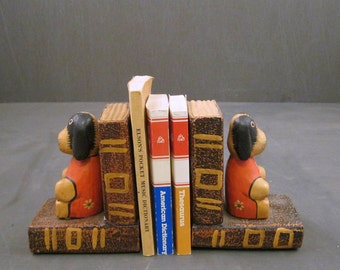 Indonesian Dog Bookends