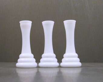Art Deco Milk Glass Vases