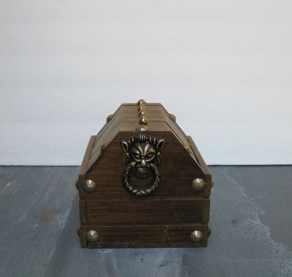 Wood and Cork Coasters in a Treasure Box Rack