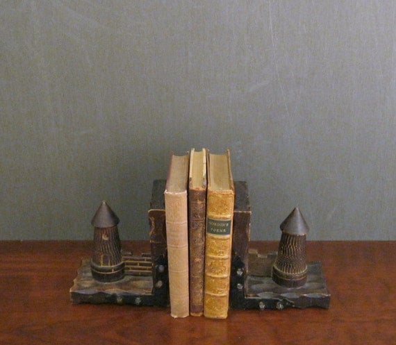 Wooden Castle Turret Bookends