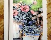 Garden Pots Fine Art Notecard