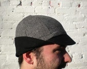 the Tyrant Tweed grey wool winter cap (treasury featured)