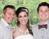 Bridal Headband - Swarovski Crystal  Pearl Lace Headband Bridal Fascinator Wedding
